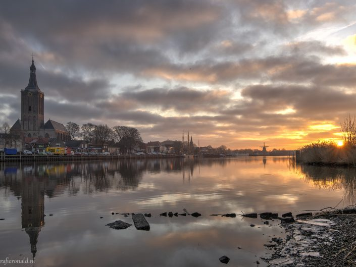 hasselt stadsfront zonsopkomst